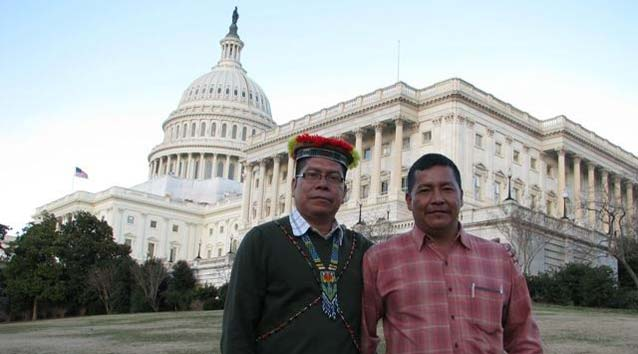 Humberto Piaguaje and Guillermo Grefa are visiting Washington to draw attention to this corporate star chamber