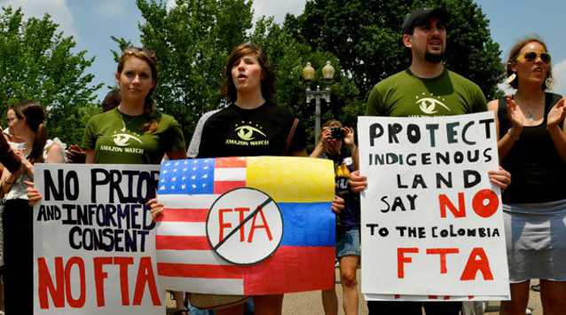 Amazon Watch Stop The Colombia Fta