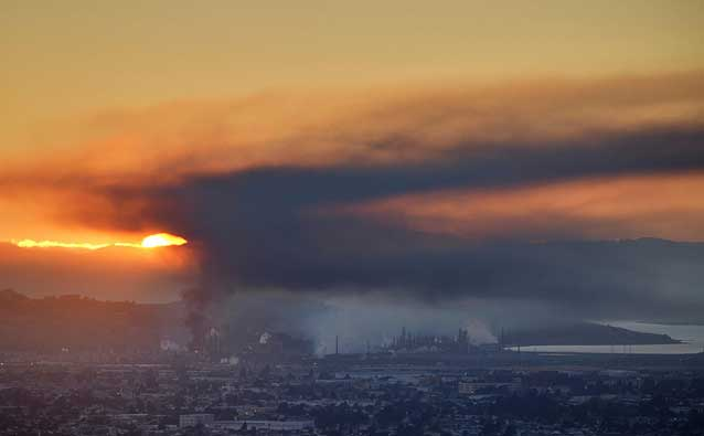 Fire at Chevron's Richmond refinery