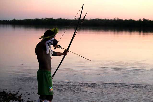Traditional fishing in the Xingu. Photo Credit: Christian Poirier