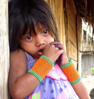 Indigenous child from a Xikrin-Kayapo village on the Bacajá River. Photo credit: Maira Irigaray