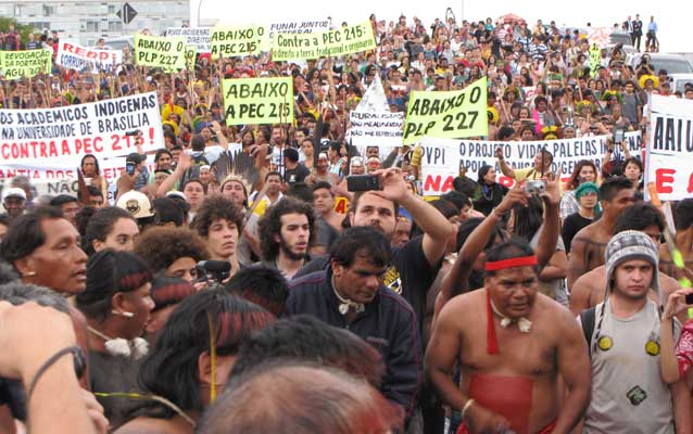 Protests Sweep Brazil Demanding End to Attack on Indigenous Rights. Source: Amazon Watch