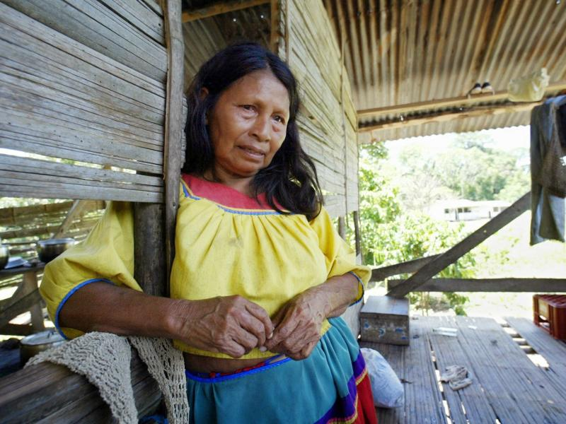 Carolina Quenama, one of the victims that Chevron is suing. Photo Credit: Lou Dematteis, from Crude Reflections