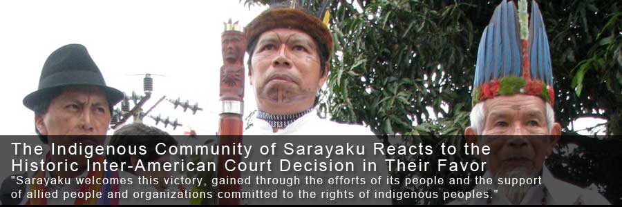 Sarayaku Press Statement on Inter-American Court Sentence