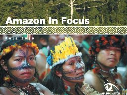 Amazon in Focus 2010