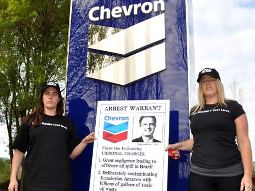 Karmic Justice: Chevron CEO Deposed