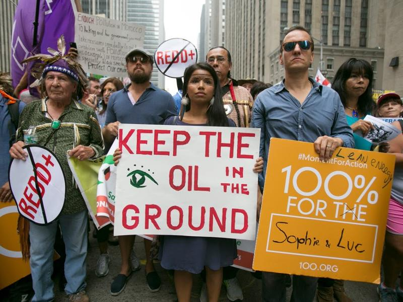 """Keep the Oil in the Ground!"" Key Message at People's Climate March"