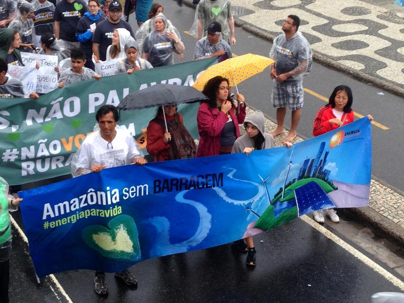 Brazilians March for Clean Energy Not Mega-Dams