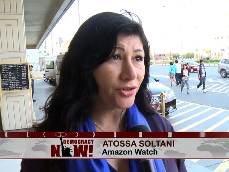 COP20 Lima: Amazon Watch on Democracy Now!