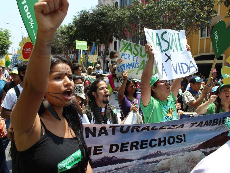 Thousands in Lima March for Climate Justice!