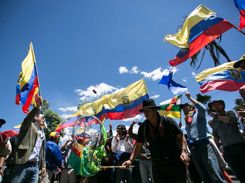 Indigenous March Descends on Quito, as National Strike Presses for Major Reforms