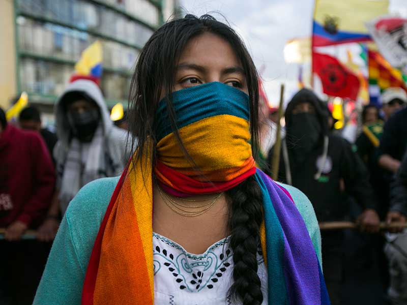 International Allies Denounce Violence Against Women on Strike in Ecuador