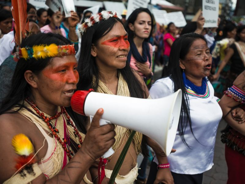 Over Five Hundred Indigenous Women of the Amazon and Allies March for Climate Justice, Indigenous Rights on International Women's Day