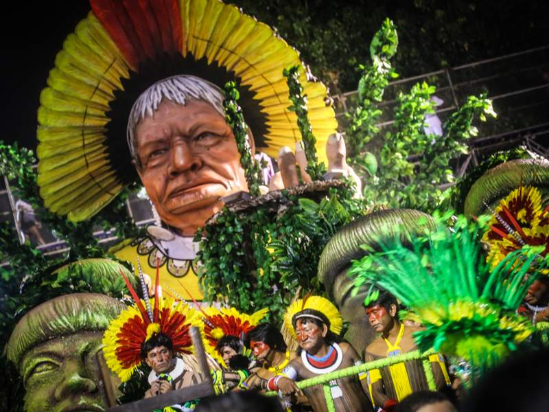 Samba Parade Spotlights Threats To Rivers, Forests and Indigenous Rights at Rio's Carnival