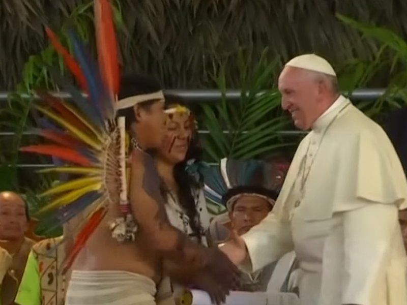 Pope Francis Says Amazon Indigenous People Under Greater Threat Than Ever