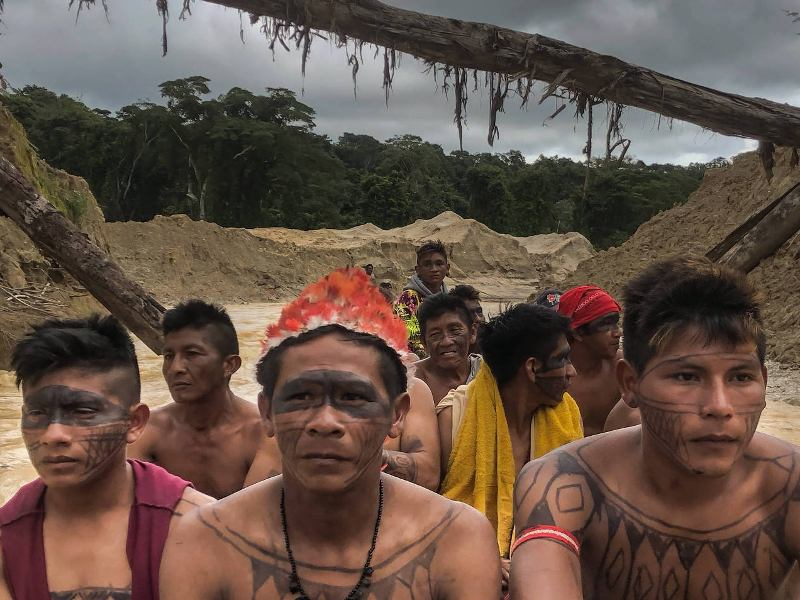 Native Brazilians Try to Close Major Illegal Mining Site Polluting River in Pará