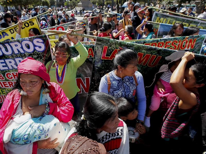 Keep Off Our Land, Indigenous Women Tell Ecuador's President