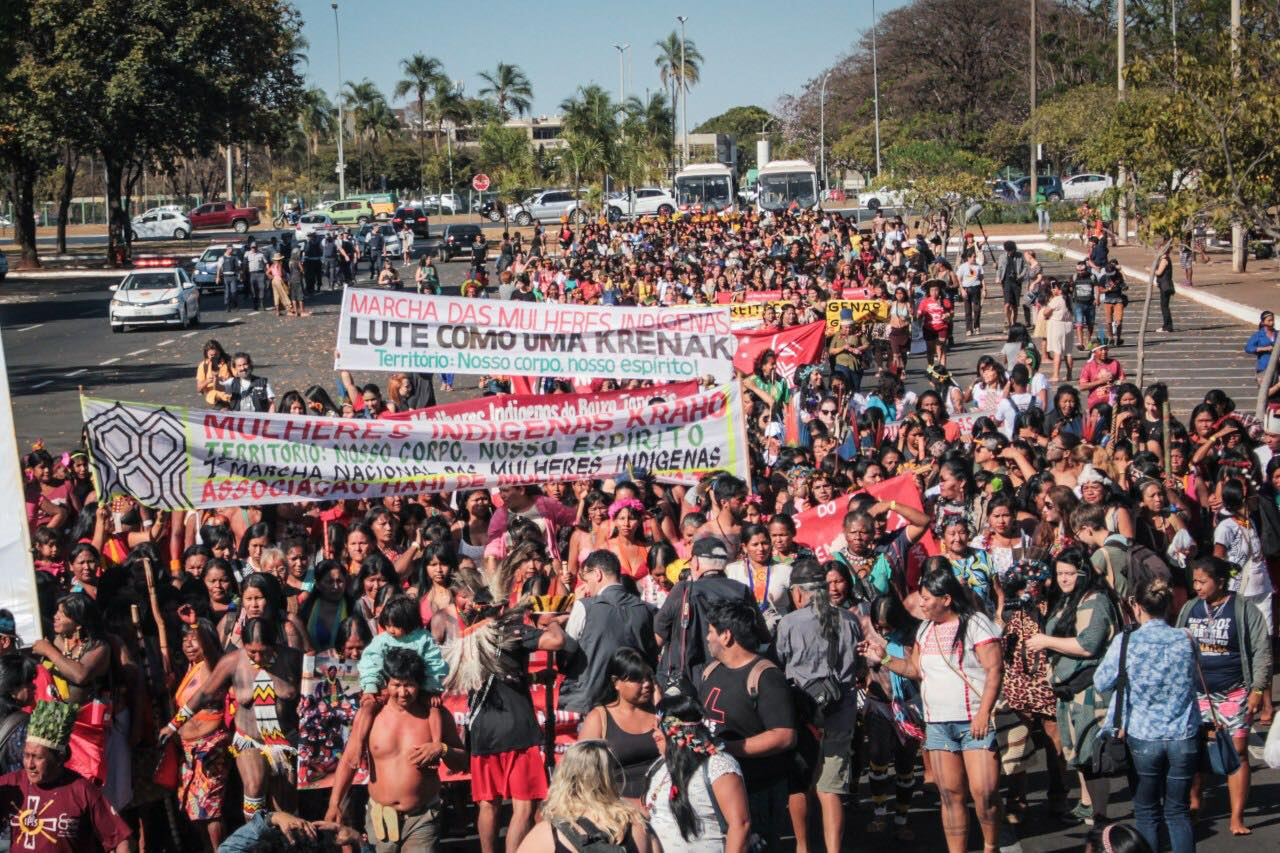 Indigenous Women Mobilize to Resist Bolsonaro in Major Brasilia Protests