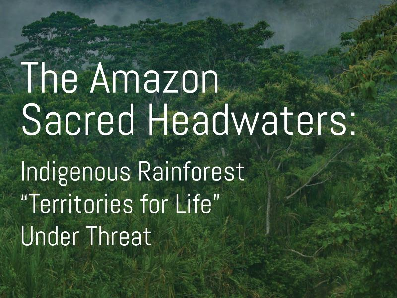 "The Amazon Sacred Headwaters: Indigenous Rainforest ""Territories for Life"" Under Threat"