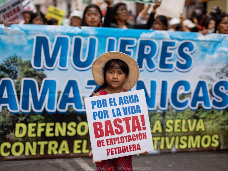 Amazonian Women Mobilize in Quito to Demand Justice and Support for Earth Defenders