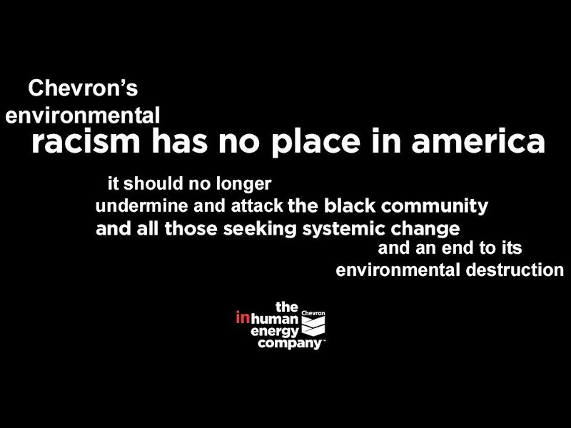 Chevron Is a Champion of Environmental Racism