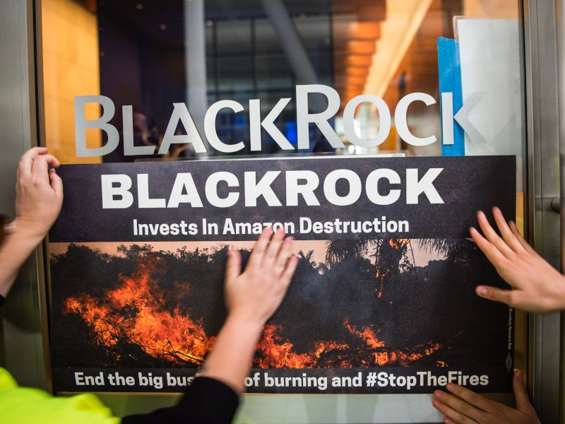 Climate Activists Ramp Up Pressure on BlackRock During Fires Week of Action