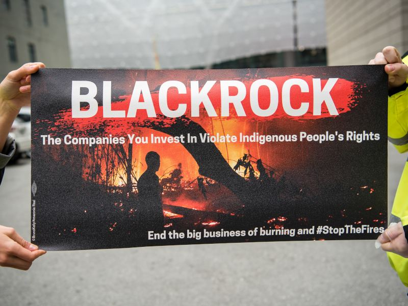 Frontline Activists from Around the World Escalate Pressure on BlackRock